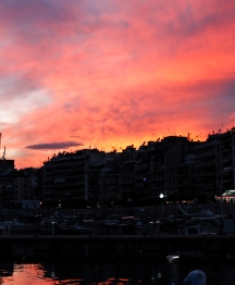 Sunset, Piraeus